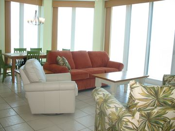 Gulf Shores condo rental - Floor to Ceiling windows allow panoramic views from the main room and 2 bedrooms