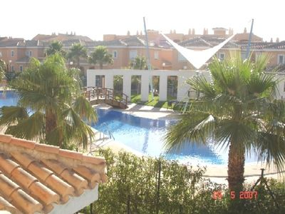 Town House With Large Terrace Area Over Looking The Large Ornate Swimming Pool