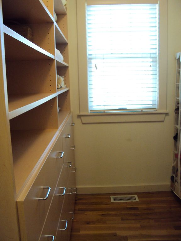 Windowed walk-in closet in Master bedroom