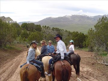 Horseback riding with friends May 2005