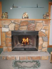 Tannersville townhome photo - Wood burning fireplace