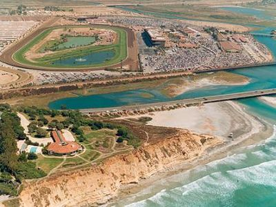 Conveniently located a short distance to the Del Mar Race Meet and Fairgrounds.
