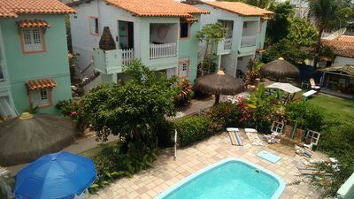 Furnished house with terrace, swimming pool, individual barbecue, playground.