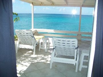 Pelican Key villa rental - Huge waterfront deck perfect for reading,on your laptop/ iPad, a lovely book or