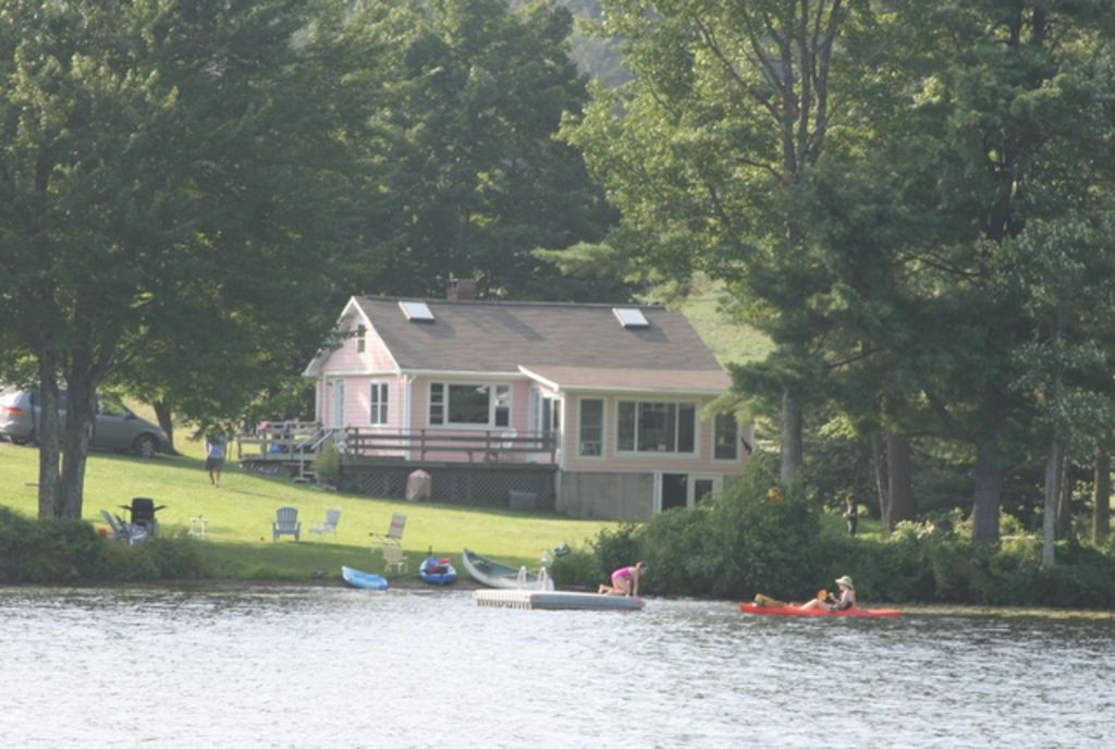 The Pink Cottage on beautiful Damariscotta Lake. Available until December 10th