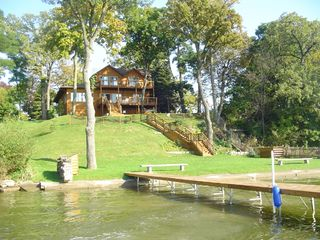 Cedar Lake cabin photo - Dock your boat on the shore of the Lake House!