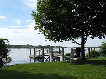 Great Island cottage rental - The back yard--relax and enjoy!
