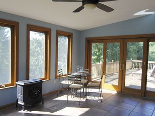 Rhinebeck cabin photo - Sun Room with Doors leading to Outside Deck