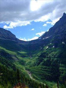 Glacier Park-View from road up to Logan Pass. Park entrance only 30 miles!