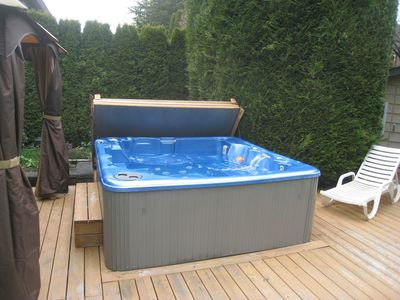 Private year-round hot tub