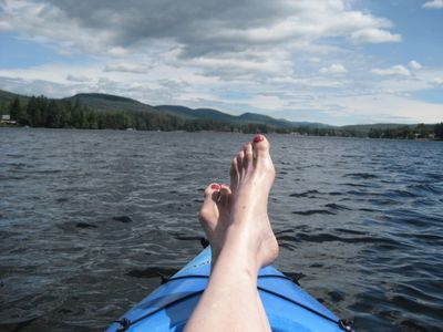 Kayaking on Lake Algonquin