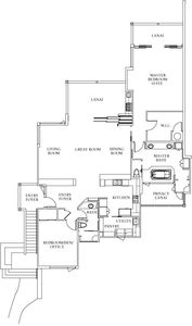 Floor Plan. Tons of room, lanai's, group and private spaces!