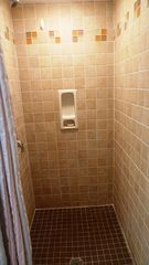 Cape Charles cottage photo - Tile shower in full bathroom