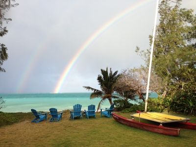 Double Rainbow in the Backyard