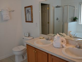 Legacy Park house photo - Master Bathroom with twin sinks and standalone shower