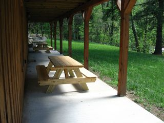 Seven Springs house photo - Outdoor dining options, 4 full size picnic tables /fire ring & grill