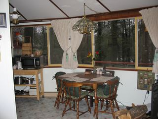 Lake Wallenpaupack house photo - Dining area overlooking lake