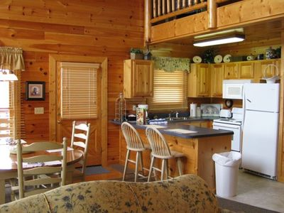 Pigeon Forge cabin rental - KITCHEN - fully furnished, has dishwasher and ice maker