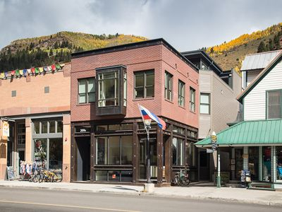 Exterior of Tru Lux from Main Street in Telluride.  Experience Refined Telluride