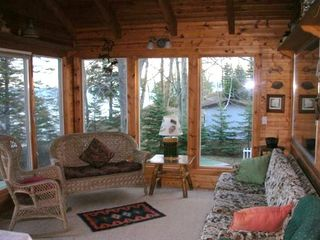 Manistee house photo - Relax on the Enclosed Porch overlooking Lake Michigan