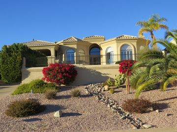 Fountain Hills house rental - Front of house with pool very private