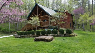 Wise Old Owl Cabin French Lick Paoli Peaks sleeps 2 to 20 HotTub Fireplace Warm!