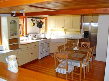 Kitchen is Large yet cozy! Great for cooking your magic and having fun!