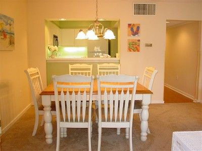Dining area fits the entire family! Large Pass-through window to Kitchen