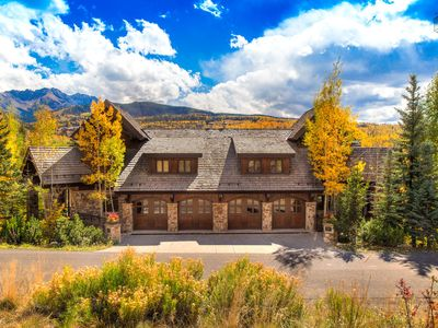 This massive townhome sits right on the first fairway of Telluride Golf Course and sports incredible mountain views.