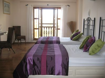 2 Double Beds in very large bedroom