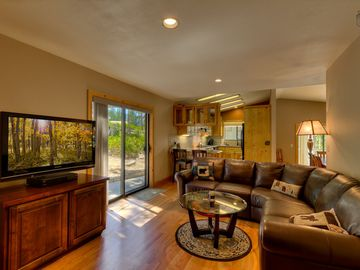 Montgomery Estates house rental - Relax on the big couch and watch a movie with everyone on the flatscreen TV.
