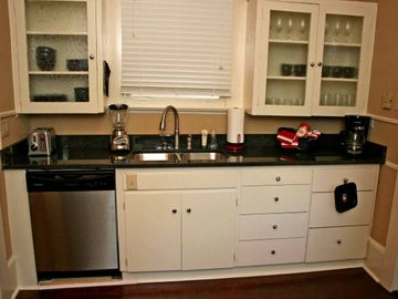 Nice Modern Kitchen with granite counter tops.