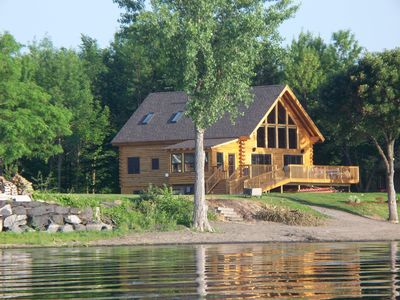 Log Home From Lake