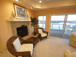 Lake Ozark condo photo - The Living Area offers plenty of comfortable seating for your relaxing Lake Trip