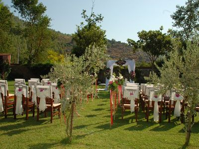 Kayakoy villa rental - A wedding ceremony