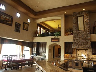 Cave Creek estate rental - Large great room area with 22 foot ceilings.