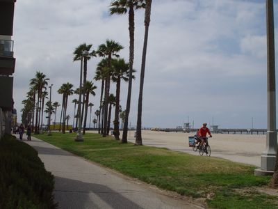 Take a stroll or a bike ride on the Boardwalk