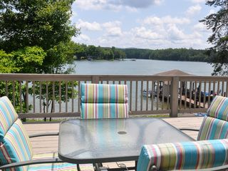 Moneta house photo - Outdoor dining, overlooking lake
