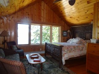 Cedarville cottage photo - master bedroom . watch boats while you relax in bed .