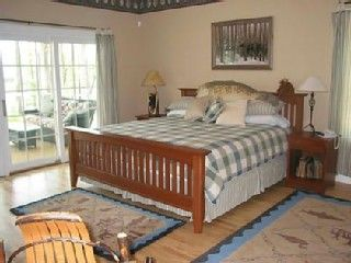 Master bedroom with screened porch
