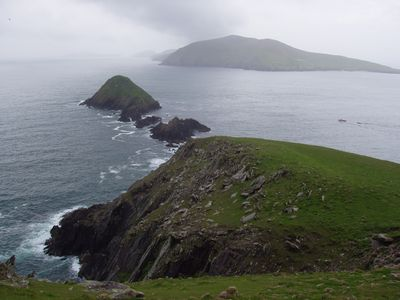 view to the Blasket Islands from the house