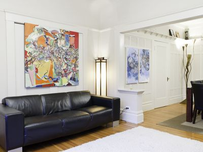 San Francisco apartment rental - Living room: Note: we recently replaced this couch with a larger sleeper sofa)