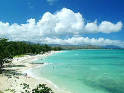 Come on and go Hawaiian! Gentle surf and beautiful sand awaits!