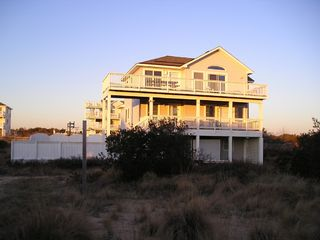 Corolla house photo - The Rear Decks that face the Ocean.