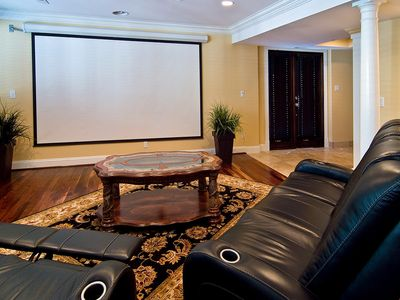 "Theater Room with 145"" screen"