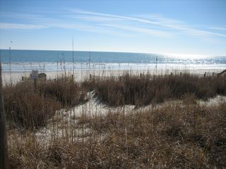Surfside Beach condo photo - Wide easy access beach with protected dunes