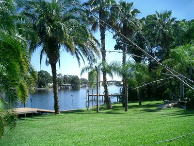200' of river front, on 3/4 acre. Truely a private paradise!
