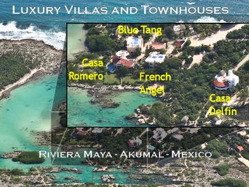 Akumal villa rental - Private Compound on Caribbean Coastline
