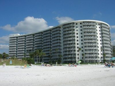 High rise view from the beach-Unit is on 6th floor in the third stack from right