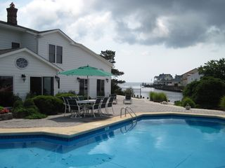 Waretown house photo - Patio & Pool #3 - with bay views and Dock #2